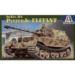 Italeri Sd.Kfz. 184 Panzerjager Elefant Nr. 7012 1:72 (Pre owned)