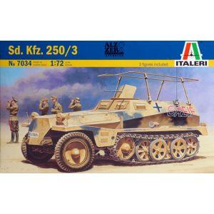 177 Italeri 1:72 Sd. Kfz. 250/3 Model Kit (Pre owned)