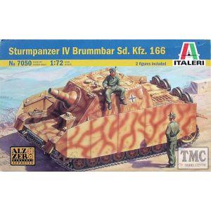 7050 Italeri 1:72 Sturmpanzer IV Brummbar Sd.Kfz. 166 Kit (Pre owned)