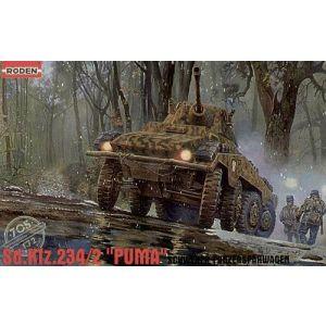 """Roden Sd.Kfz.234/2 """"Puma""""  Schwerer Panzerspähwagen Model Kit No 705 1:72 (Pre owned)"""