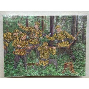 Pegasus Hobbies Military Museum German Waffen SS '43 1st SS Division 1:72 Kit No 7201 (Pre owned) - 2 missing