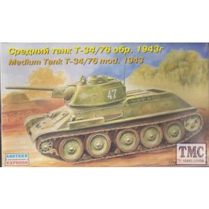 Eastern Express No. 72051 1:72 Medium Tank T-34/76 mod. 1943 (Pre owned)