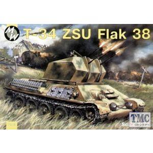 Military Wheels 1:72 T-34 ZSU Flak 38 No 7213 (Pre owned)