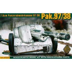 ACE 1:72 7.5cm Panzerabwehrkanone 97/38 PaK.97/38 Model Kit no 72223 (Pre owned)