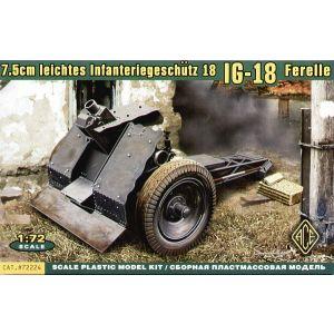 ACE 1:72 7.5cm leichtes Infantriegeschütz 18 IG-18 Model Kit no 72224 (Pre owned)