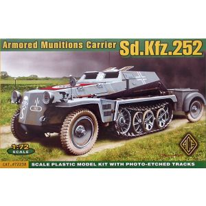 ACE 1:72 Armored Munitons Carrier Sd.Kfz.252 Model Kit no 72238 (Pre owned)