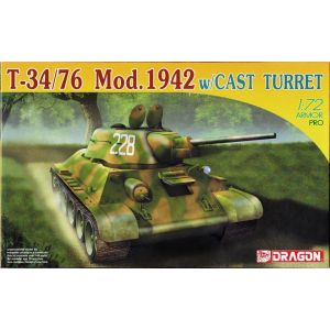 Roden T-34/76 Mod.1942  w/Cast Turret Model Kit No 7224 1:72 (Pre owned)