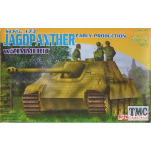 Dragon 1:72 Sd.Kfz. 173 Jagdpanther  Early Production w/Zimmerit No 7241 (Pre owned)