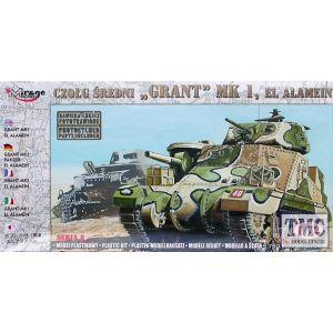 "Mirage Hobby Medium Tank ""Grant"" MK 1  El Alamein Model Kit No 72804 (Pre owned)"