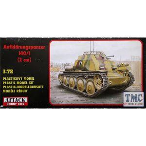 72805 Attack Hobby Kits Aufklärungspanzer 140/1 1:72 (Pre owned)