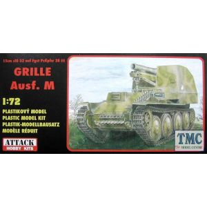 72814 Attack Hobby Kits 15cm sIG 33 auf Fgst PzKpfw 38 (t) Grille Ausf. M 1:72 (Pre owned)