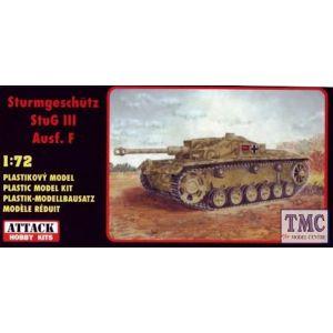 72820 Attack Hobby Kits Sturmgeschütz StuG III Ausf. F Kit 1:72 (Pre owned)