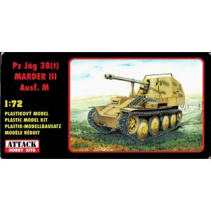 72824 Attack Hobby Kits Pz Jäg 38(t) Marder III Ausf. M Kit 1:72 (Pre owned)