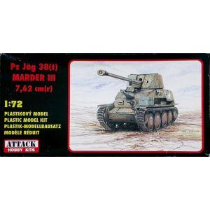 72833 Attack Hobby Kits Pz Jäg 38(t) Marder III 7,62 cm(r) Kit 1:72 (Pre owned)