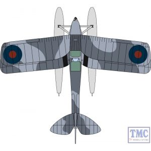 72TM009 Oxford Diecast 1:72 Scale DH82a Tiger Moth Floatplane Royal Navy T7187