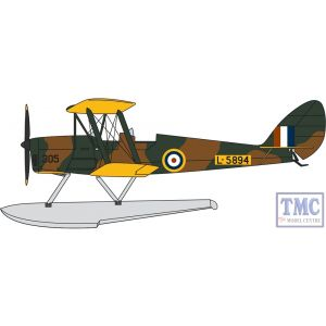 72TM010 Oxford Diecast 1:72 Scale DH82a Tiger Moth Floatplane RAF L-5894