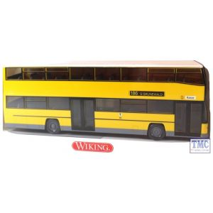 7310940 Wiking Doubledecker yellow bus D 89 (HO/OO Gauge)