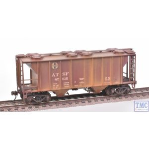 73501 Bachmann HO Gauge (US Outline) PS-2 Two Bay Covered Hopper Santa Fe with Deluxe Weathering by TMC