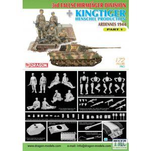 Dragon 1:72 3rd Fallschirmjäger Division + King Tiger Henschel Production No 7361 (Pre owned)