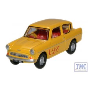 76105008 Oxford Diecast 1:76 Scale Ford Anglia Yellow (The Young Ones/Vyvyan)