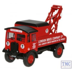 76AEC004 Oxford Diecast 1:76 Scale London Brick AEC Matador Wrecker