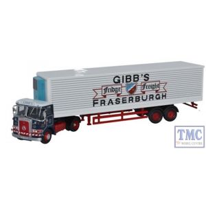 76ATK002 Oxford Diecast Atkinson Borderer 40ft Fridge Trailer Gibbs of Fraserburgh 1/76 Scale OO Gauge