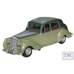 76BN6002 Oxford Diecast Balmoral Green / Met Ice Green Bentley MkV1 1/76 Scale OO Gauge