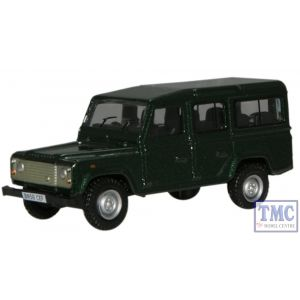76DEF001 Oxford Diecast Green L/Rover Defender 1/76 Scale OO Gauge