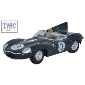 76DTYP002 Oxford Diecast Jaguar D Type 1/76 Scale OO Gauge