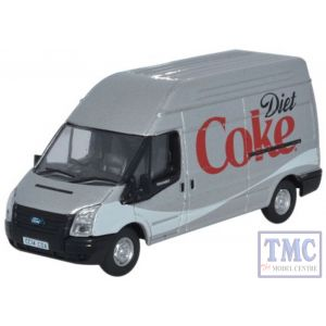 76FT019CC Oxford Diecast Ford Transit LWB High Roof Diet Coke 1/76 Scale OO Gauge