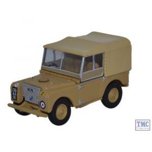 "76LAN180008 Oxford Diecast Land Rover Series 1 80"" Canvas 34th Light AA Reg RAF Firdan 1/76 Scale OO Gauge"