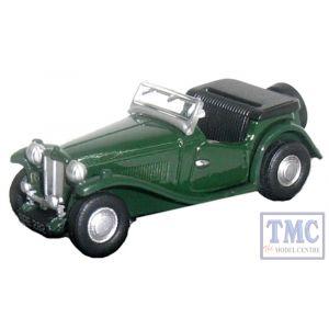 76MGTC001 Oxford Diecast MG TC Racing Green 1/76 Scale OO Gauge