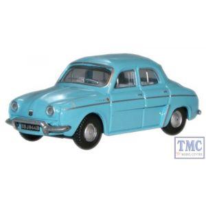 76RD001 Oxford Diecast Light Blue Renault Dauphine 1/76 Scale OO Gauge
