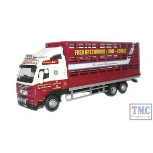 76VOL01LS Oxford Diecast Fred Greenwood Volvo FH Livestock Lorry 1/76 Scale OO Gauge