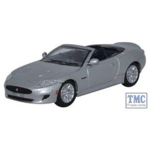 76XK002 Oxford Diecast Jaguar XK Rhodium Silver 1/76 Scale OO Gauge