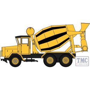 76ACM002 Oxford Diecast  AEC 690 Cement Mixer Yellow/Black