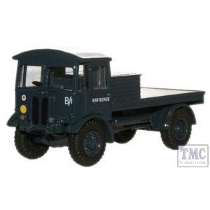 76AEC011 Oxford Diecast OO Gauge AEC Matador Flatbed RAF Blue
