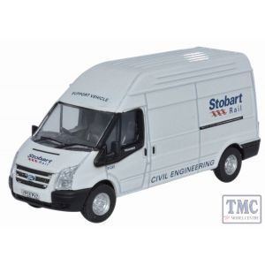 76FT010 Oxford Diecast Ford Transit LWB High Roof Stobart 1/76 Scale OO Gauge