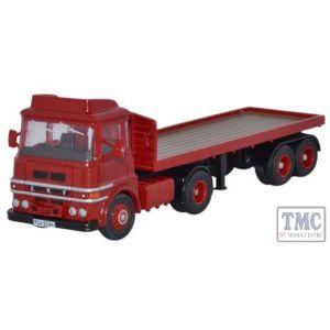 76LV001 Oxford Diecast OO Gauge ERF LV Flatbed Red