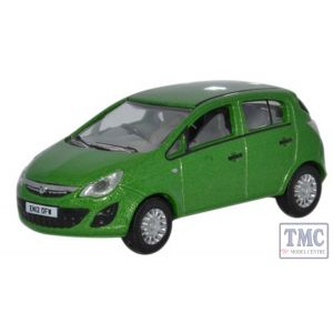 76VC001 Oxford Diecast 1:76 Scale Lime Green  Vauxhall Corsa