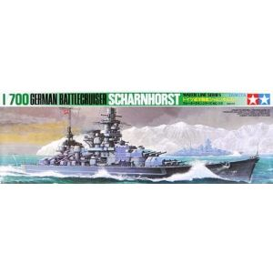 Tamiya 1/700 Water Line Series Scharnhorst Battlecruiser Kit No 118 (Pre owned and Part Built)