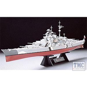 78013 Tamiya 1:35 Scale0 Bismarck with stand (717mm Length)