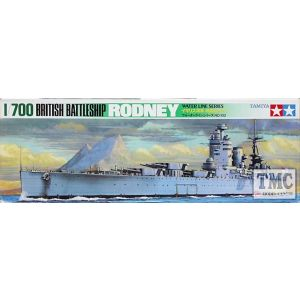 Tamiya 1/700 Water Line Series Rodney Battle Ship Kit No 102 (Pre owned)