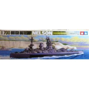 Tamiya 1/700 Water Line Series Nelson Battle Ship Kit No 104 (Pre owned - Part built)