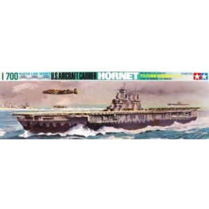 Tamiya 1/700 Water Line Series Hornet Aircraft Carrier Kit No 110 (Pre owned)