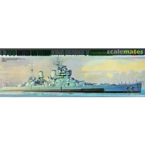 Tamiya 1/700 Water Line Series King George V Battle Ship Kit No 125 (Pre owned)