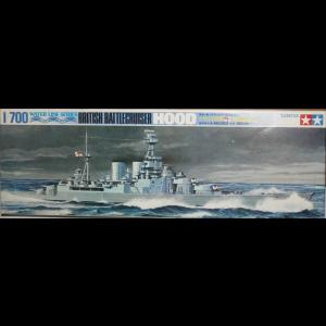 Tamiya 1/700 Water Line Series Hood Battle Cruiser Kit No 127 (Pre owned)