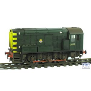 7D-008-008 Dapol O Gauge Class 08 BR Green D3305 Early Emblem Weathered by TMC