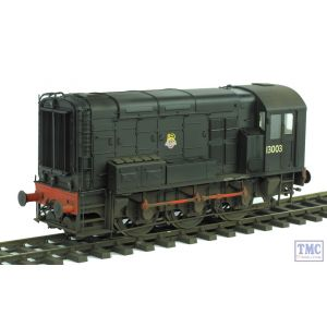 7D-008-007 Dapol O Gauge Class 08 BR Black 13003 Weathered by TMC