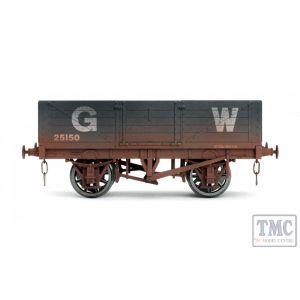 7F-051-031W Dapol O Gauge 5 Plank Wagon GWR 25150 Weathered